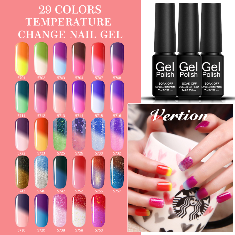 Gel Nail Polish Sale: Verntion Sale Manicure Gel Varnish Changes Color