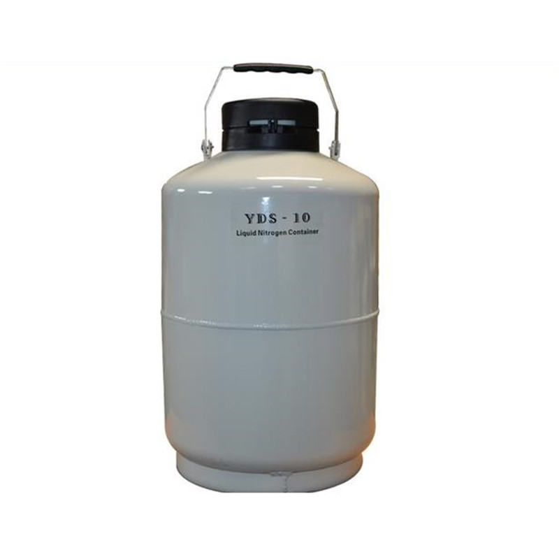 YDS-10 10 L Liquid Nitrogen Container Cryogenic LN2 Tank Ice Cream Tank One Year Warranty Liquid Nitrogen Tank u s solid 3 l liquid nitrogen container cryogenic ln2 tank dewar with straps 6 canisters 25 days
