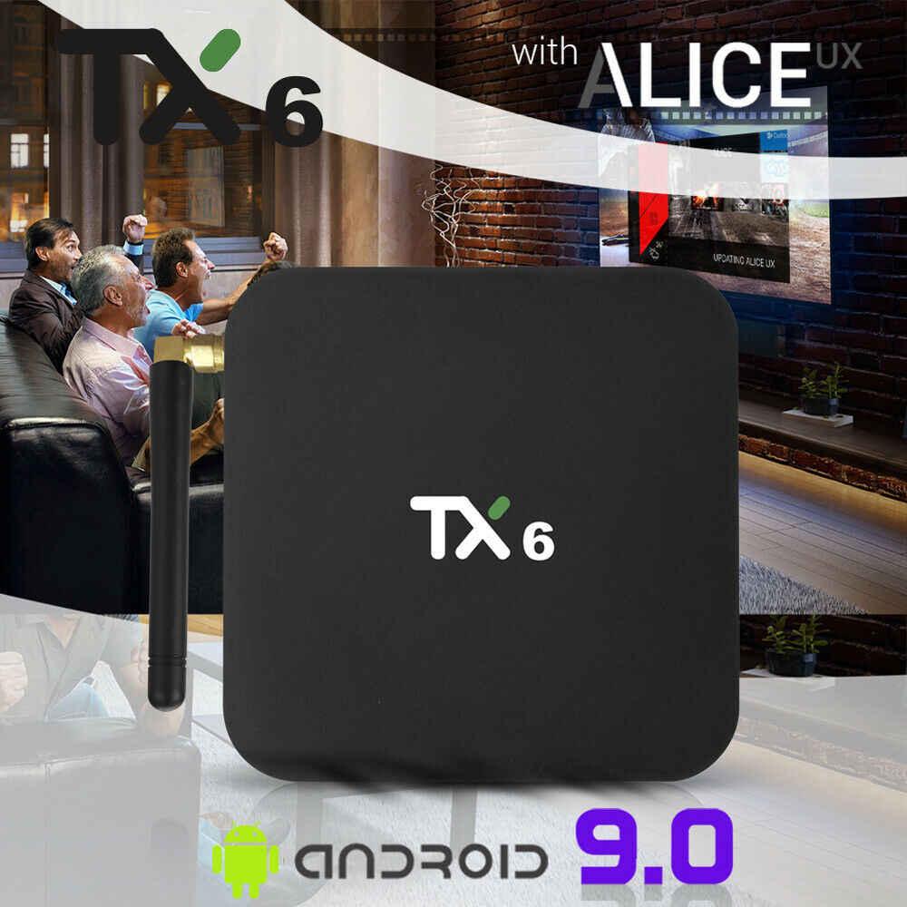 2019 mới TX6 Quad Core 4GB + 32GB Android 9.0 TV Box Kép 2.4 GHz WIFI HD Truyền Thông người chơi thông minh công nghệ nhà Tivi