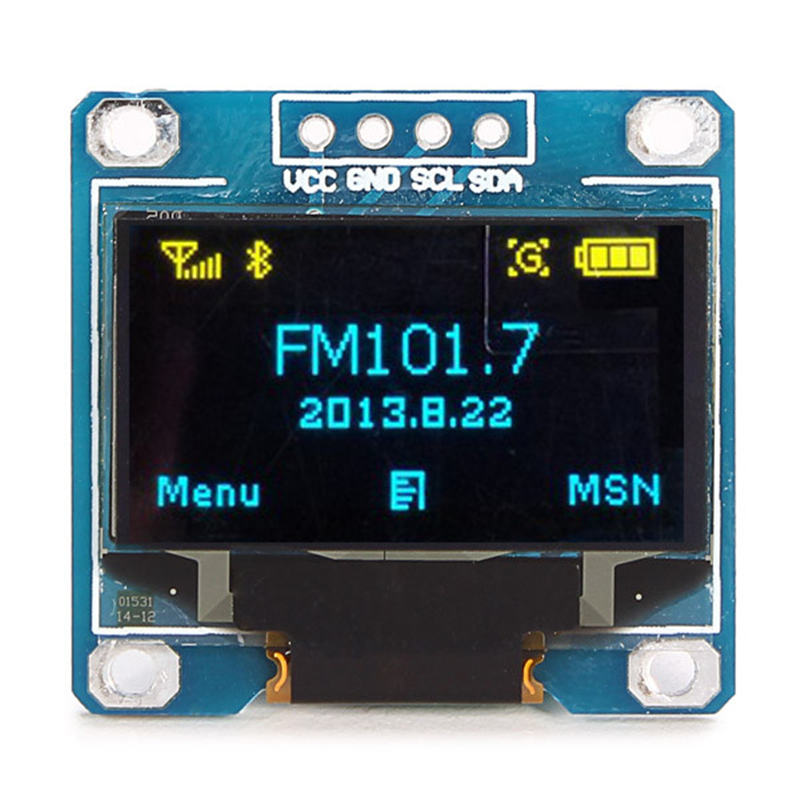 2017 New Electronic kit Circuit Board 0.96 Inch 4Pin Blue Yellow IIC I2C OLED Display Module For Arduino LED Modules2017 New Electronic kit Circuit Board 0.96 Inch 4Pin Blue Yellow IIC I2C OLED Display Module For Arduino LED Modules