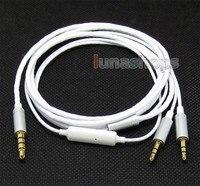 Bianco cavo 5n ofc cavo con il mic a distanza per sol republic master tracks hd v8 v10 v12 x3 cuffia ln004711