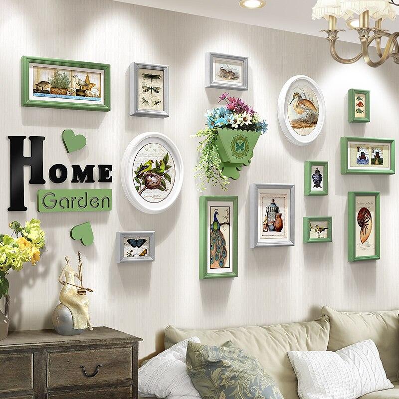 Europa Stil Kombination Rahmen 13 Teile Los Fotos Set Wohnzimmer Schlafzimmer Bilderrahmen Kunst Wanddekoration