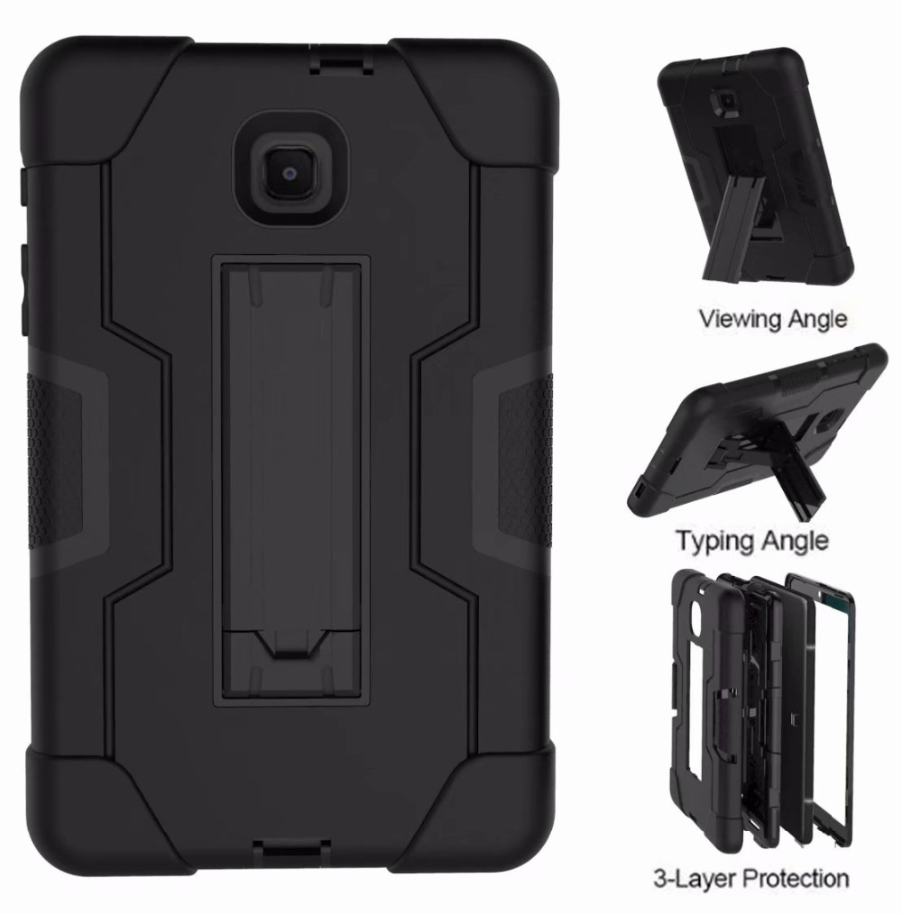 For Samsung Galaxy Tab A 8.0 Inch 2018 T387 T387V Case Shockproof Stand Full Body Protection Cover For SM T387 SM-T387 Funda+Pen