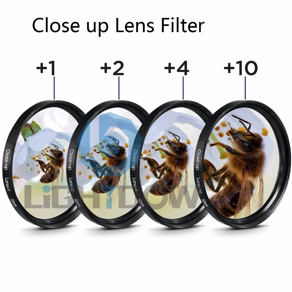 Lightdow Macro Close Up Lens Filter +1+2+4+10 Filter Kit 49mm 52mm 55mm 58mm 62mm 67mm 72mm 77mm for Canon Nikon Sony Cameras светофильтр sony vf 72ndam 72mm