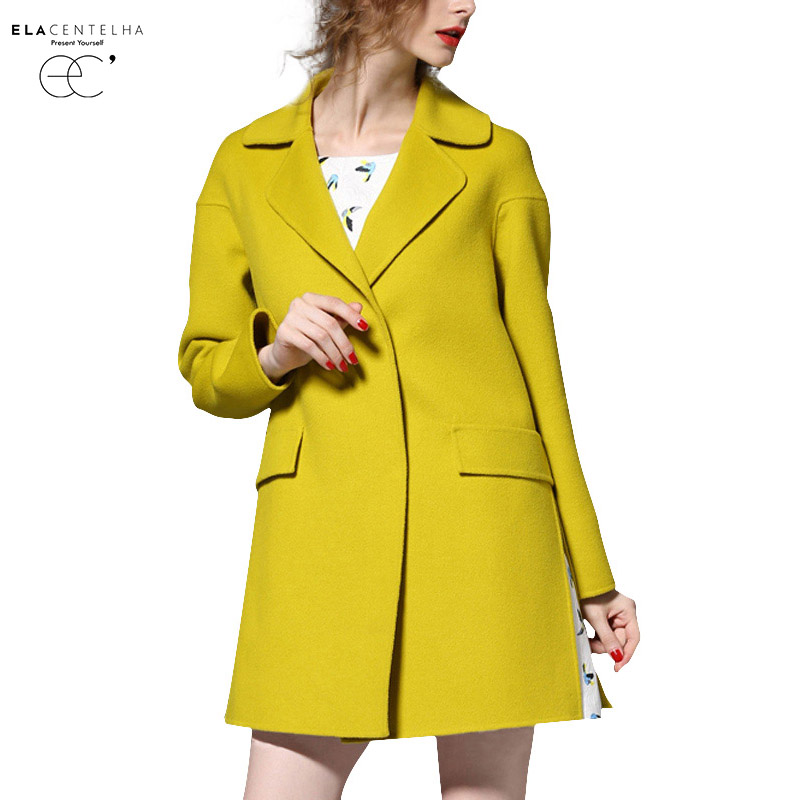 Online Get Cheap Women Wool Coat Yellow -Aliexpress.com   Alibaba ...