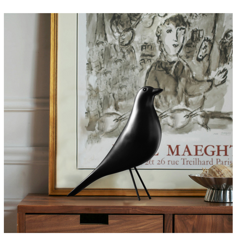 BUF Resin Craft Bird Figurine Statue Office Ornaments Sculpture Home Decoration Accessories Bird Sculpture