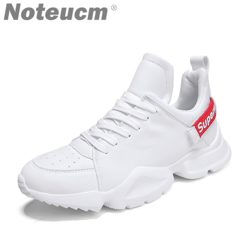 Casual 2018 retro mesh Leather male shoe summer men's white black high platform sneaker basket femme Krasovki men Tmall Footwear