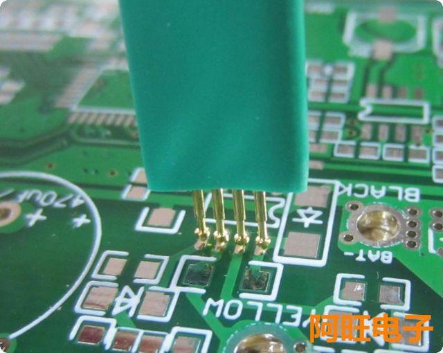 1.27 4P STC Burning Needle Test Needle Write Program Probe 4 Feet Spring Needle 1.27mm 4P
