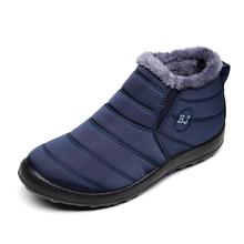 Mężczyźni Buty Mężczyźni Buty zimowe wodoodporne Snow Boots dla mężczyzn kostki botas hombre plus rozmiar 46 Mężczyźni Buty zimowe Obuwie męskie Booties tanie tanio Dorosłych Krótki pluszowy Gumowe Slip-on Z KUIDFAR Dół Zima A00285 Płaski (≤ 1cm) Szycia Okrągły palec Pluszowe