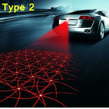 Car Laser Tail Warning Lights 12V LED Fog Lights Auto Brake Parking Reversing Lamp Car Styling