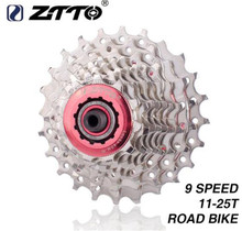 цена на ZTTO Road Bike Bicycle Parts 9S 18S 27S Speed Freewheel Cassette Sprocket 11-25T 25T Compatible for Parts Sora 3300 3500 R3000