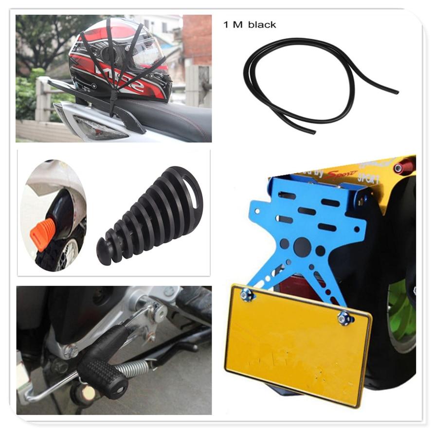 Support de permis de moto boîtier de manette de vitesse tuyau d'huile casque bouchon Net pour Ducati MONSTER 400 620 MTS 695 696 796 S2R 800 foncé