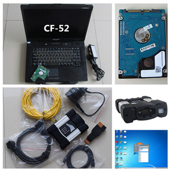 2019.9 super for bmw icom next with software hdd installed in laptop cf52 military computer 4gb