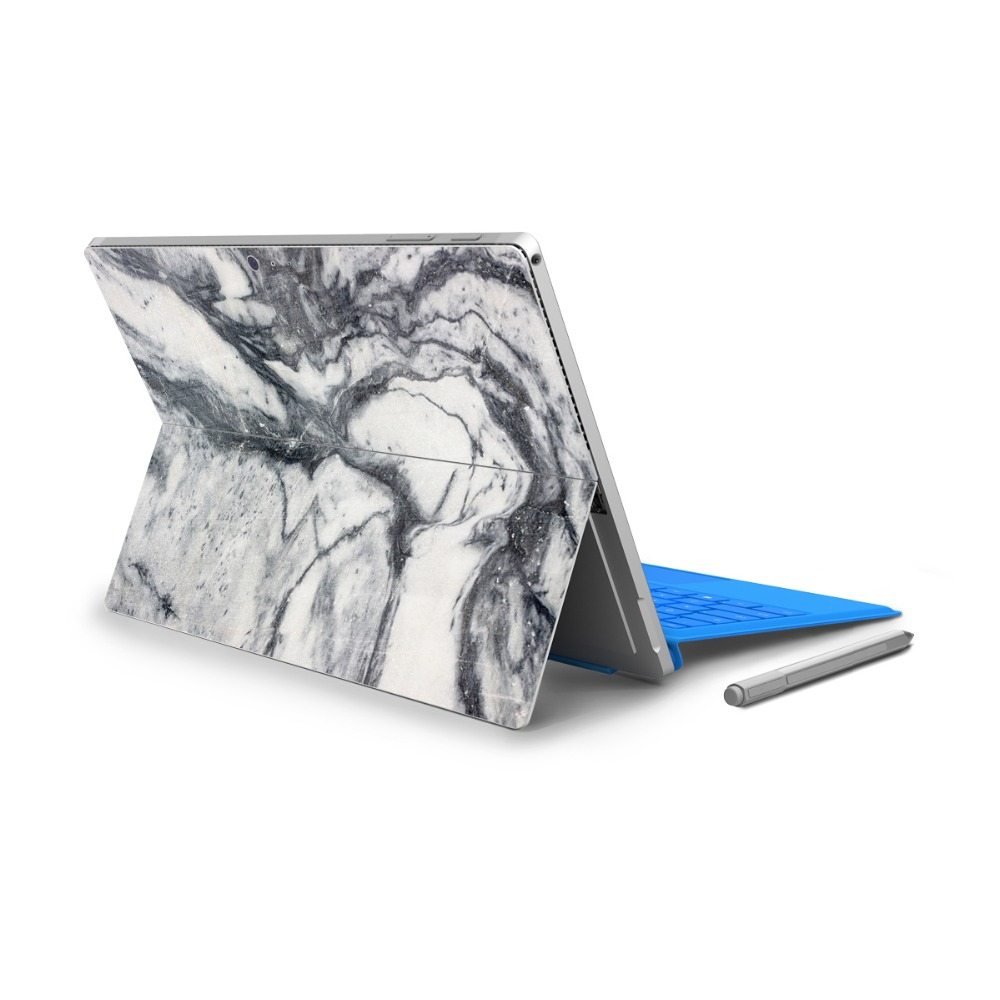YCSTICKER - For Surface Pro 4 Vinyl Back Full Decal Tablet Painting Sticker Landscape Skin & Surface Pro 4 HD Screen Film