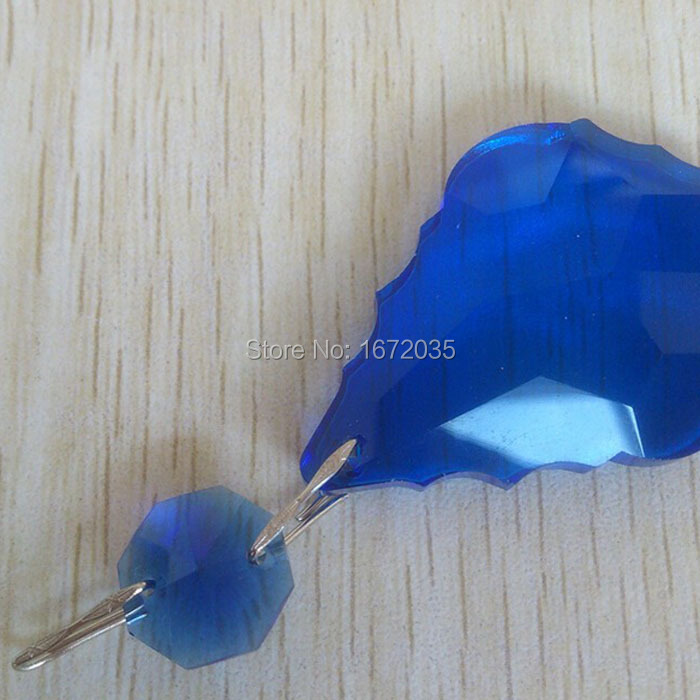 unids de color azul mm hoja de arce mm perlas francs tallado colgante barroco