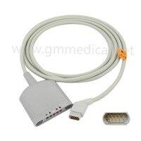 Совместимость с Siemens SC9000 XL Multi link кабель дальней связи ECG 5 цельный кабель ЭКГ кабель (Spo2, температура, ЭКГ)