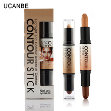 Double-ended create contouring creamy bronzer blemish highlighter contour concealer stick face