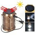 2 in1 Складной СВЕТОДИОДНЫЙ Кемпинговый Фонарь Солнечная Зарядка От USB Свет Фонарика Портативный Открытый Выживания Лампы для Рыбалка