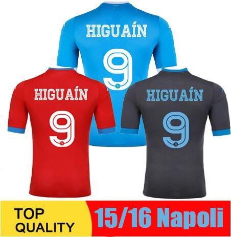 7566df5bb6318 2016 Napoli jersey 15 16 Napule maglia da calcio 15 16 lejos gris napoles  camiseta de futbol HIGUAIN INSIGNE HAMSIK GABBIADINI