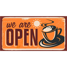 We Are Open Vintage Metal Tin Sign Home Bar Cafe Art Signs Pub Tavern Retro Decorative Plates Poster