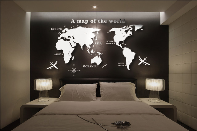 Online shop wall art decal world map wall sticker globe earth wall wall art decal world map wall sticker globe earth wall decor for kids room home diy mirror 3d acrylic self adhesive removable gumiabroncs Images