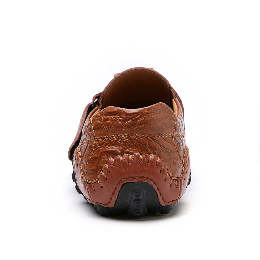 2f794d9d65a896 ... Luxury Casual Shoes Men Loafers Genuine Leather Flat Slip on High  Quality Designer Shoes Men Moccasins ...