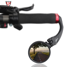 Flexible Bike Mirrors Clear Bicycle Rear View Mirror MTB Bar Ends Back Eyes Safety For a Accessories