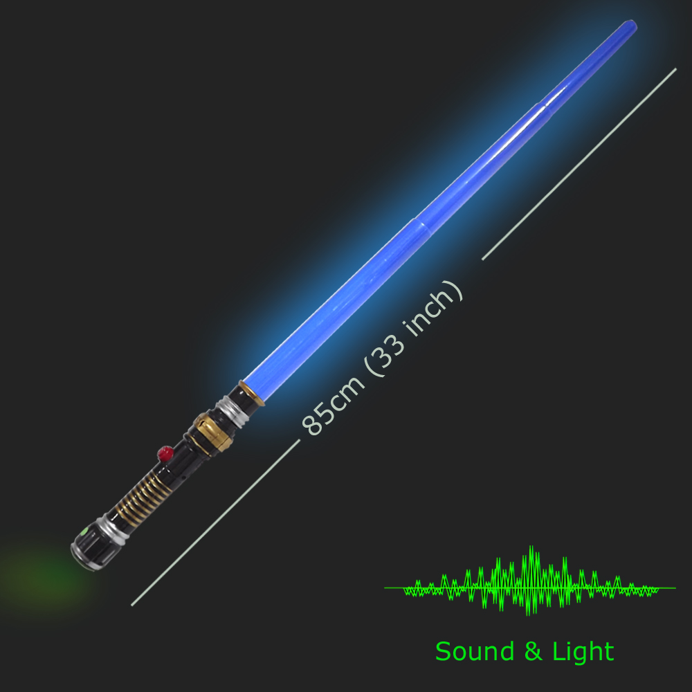 Stable Color Blue Light Up Sword Toy Telescopic Extendable