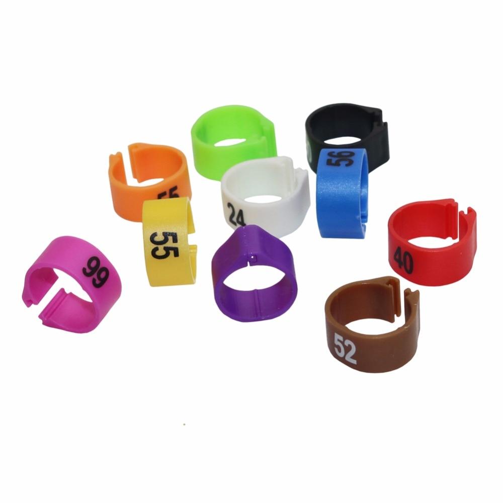 10 colors x 100 pcs Birds Plastic foot Rings 12MM 14MM 10 colors Suitable for a