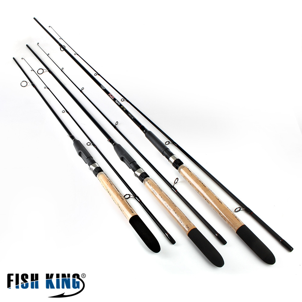 FISH KING 99% Carbon Soft Bait Lure Spinning Rod 2.1m 2.4m 2.7m 5-25G 2 Section Lure Weight 20-60LB Line Weight Carp Fishing Rod цена
