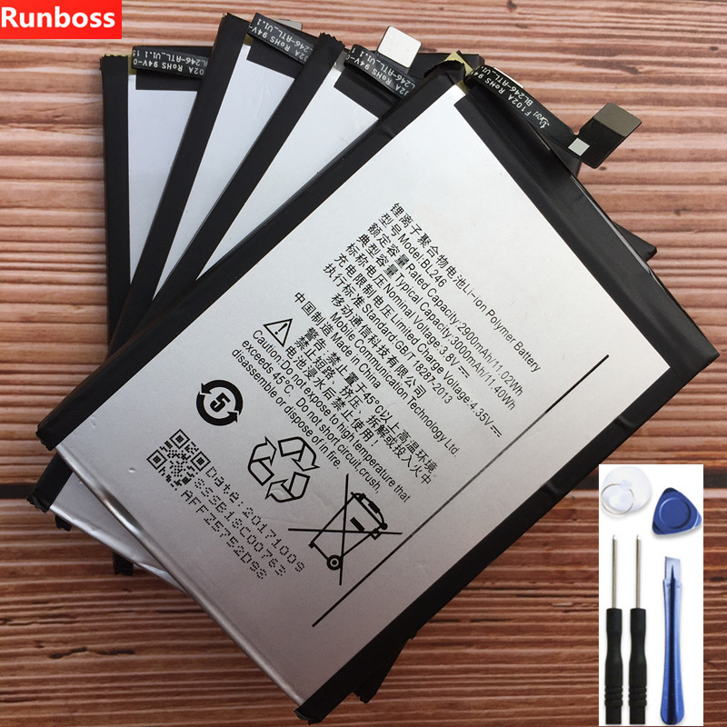 Tiro BL246 Bateria 3000 mAh Para Lenovo Vibe Vibe Max Z90 Z90-3 Z90-7 Z90a40 Para Lenovo Z90 Embutido Telefone Celular bateria