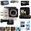 "2.0 ""WI-FI 1080 P HD Sports Action camera pro DVR Câmera À Prova D' Água DV + 16 GB SD Card + carreg o Saco"