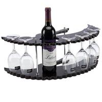 Creative solid wood wine rack wine glass holder wine bottle shelf fashion European household goblet upside down rack wx8031012