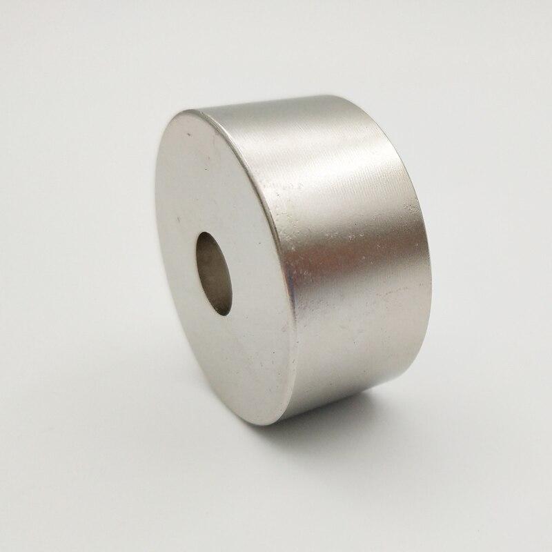 Купить с кэшбэком 1pcs N45 N52 40x20 hole 10 mm strong powerful Neodymium magnet Permanent Magnet 40*20 hole 10mm N52 magnetic