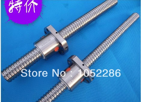 купить 2pcs ball screw RM2010- 1050/850mm with 2pcs SFU2010 single ballnut with end machined screw guide по цене 6213.25 рублей