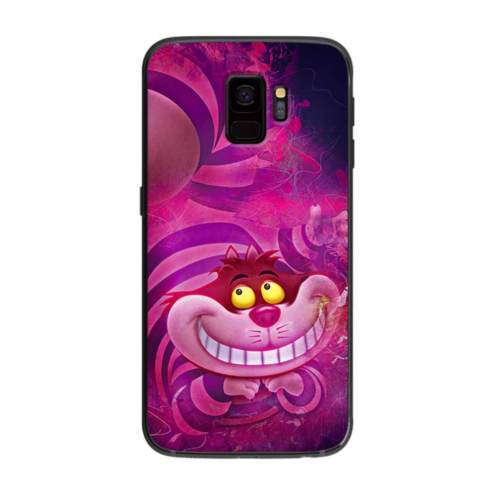 Alicia en el país de las Maravillas gato Samsung Galaxy A5 A6 A7 A8 A9 2018 más de 2019 M10 M20 M30 teléfono caso