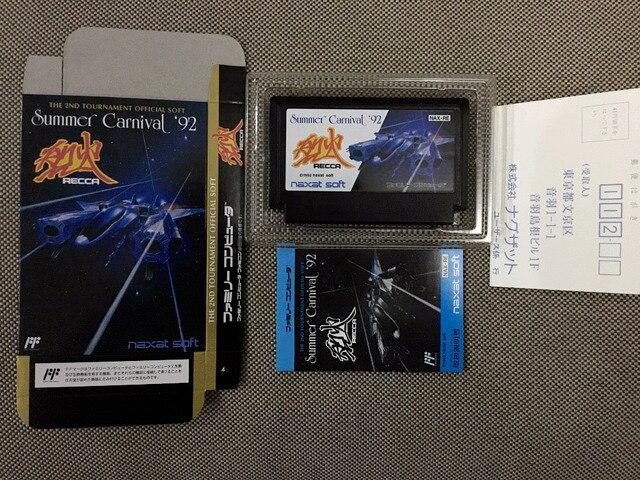 ¡Tarjeta de juego de 8 bits: Summer Carnival 92 (versión japonesa! Caja + manual + cartucho!)