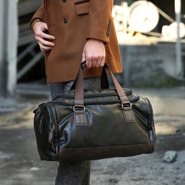 Online Shop New men's leather bag mass fashion leisure air travel ...
