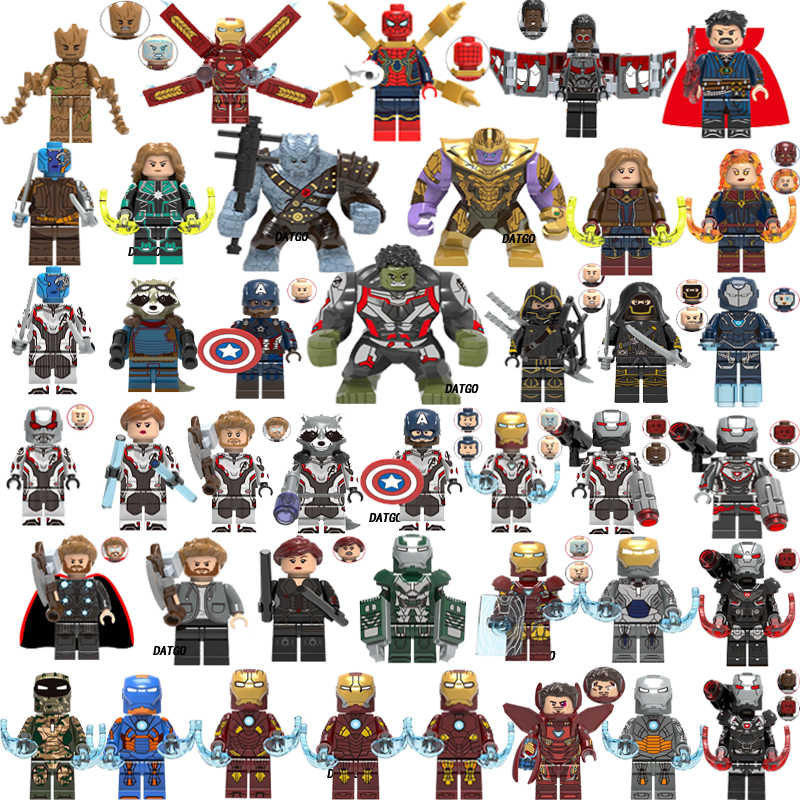 LEGOED Marvel Avengers Super Heroes  Endgame Captain America Thor War Machine Iron Man spiderman Thanos Hulk Building Blocks toy