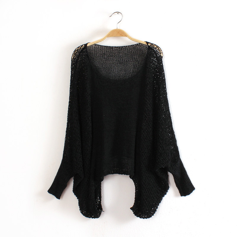 Knit O-Neck Long Sleeve Pullover Loose Sweater 3