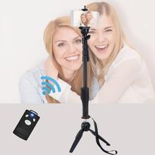 Для iPhone 5 5s 6 7 Sumsang S7 Телефон Gopro DSLR камера Bluetooth Selfie Палка Yunteng 1288 Телескопический Монопод и 228 Мини штатив