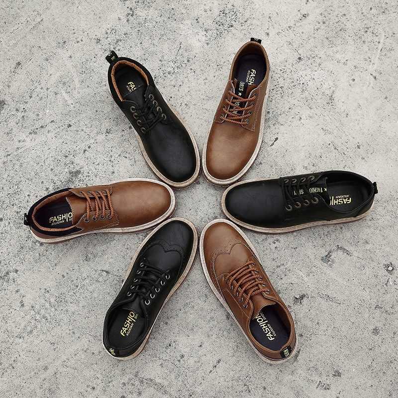 Мужские ботинки размера плюс 39-45, Новые повседневные кожаные ботинки Martens мужские военные ботинки Рабочая защитная обувь