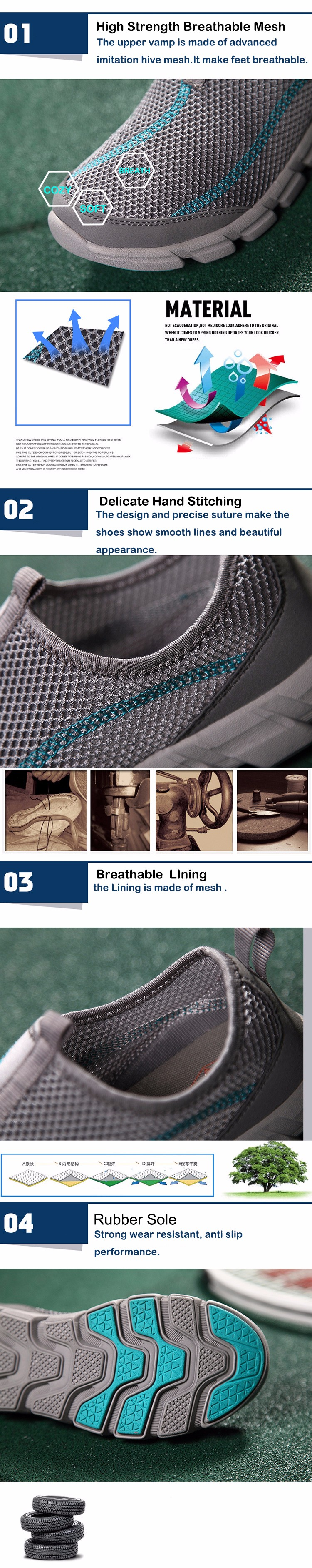 LEMAI 16 New Cool Athletic Men Sneakers Summer Breathable Mesh Sport Shoes For Men Outdoor Super Light Running Shoes FB013 23