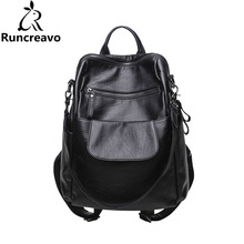 2018 Rucksack Women Backpack Sac A Dos Femme Travel Laptop Backpack Pu Leather Back Bag School Backpack Bags For Teenage Girls