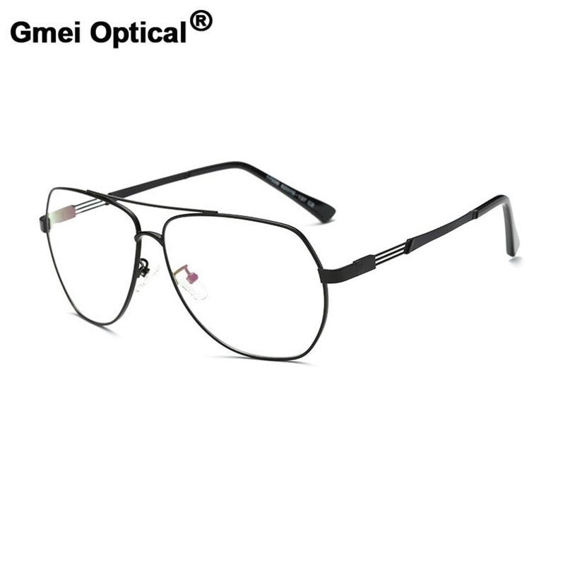 Gmei Ópticos óculos de Sol Do Vintage Óculos Ópticos Quadros de Liga de Metal  Mulheres Homens Óculos Oculos de grau Óculos de Miopia A17006 29cfbfbb34