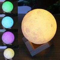 Night Light Desk Table Lamp Moonlight Lunar Gradual Change Colorful Home