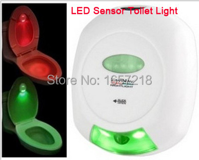 Smart Bathroom LED Seat Night Light Smart Motion Sensor Toilet Lid Induction Lamp Used 2*AA Batteries Backlight For Toilet Seat