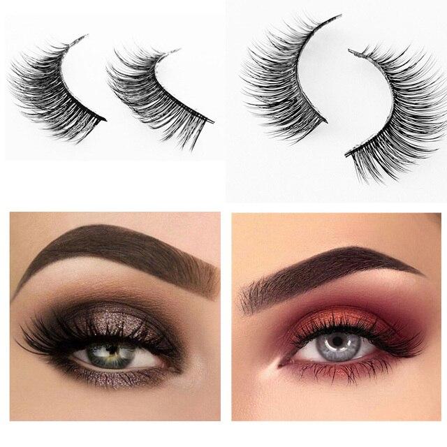 9bdc042c0d0 Handmade 3 pairs natural false eyelashes fake lashes long makeup 3d mink  lashes extension eyelash for