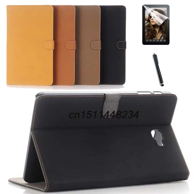 AORUIIKA Luxury Case For Samsung Galaxy Tab A a6 10.1 2016 SM-T585 T580 T580N PU leather tablet Magnetic smart Cover+film+pen