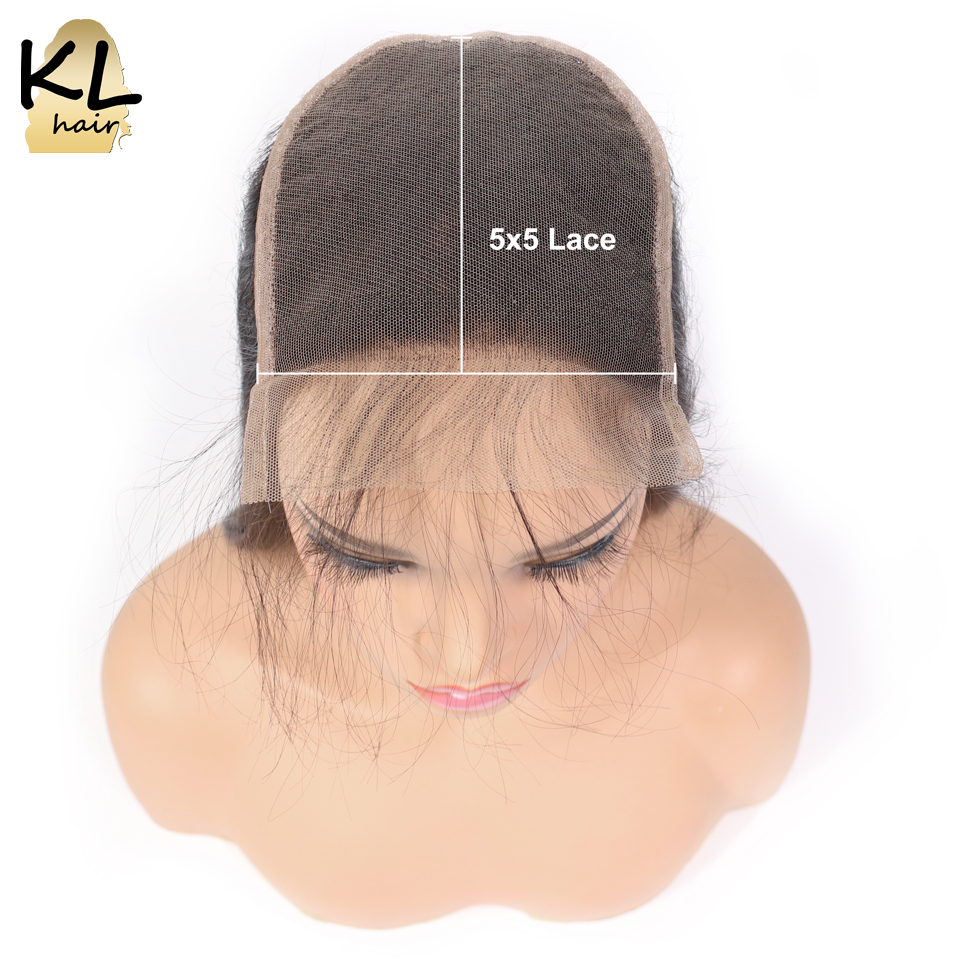 KL Hair 5x5 Body Wave Lace Closure Free Part Human Hair Natural Color Brazilian Remy Hair Closure Bleached Knots With Baby Hair